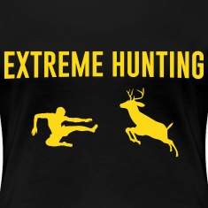 Extreme Hunting. Man vs Deer Women's T-Shirts