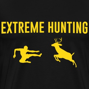 Extreme Hunting. Man vs Deer T-Shirts - Men's Premium T-Shirt