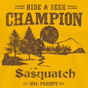 Hide and Seek Champion. Sasquatch T-Shirts - Men's Premium T-Shirt