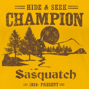 Hide and Seek Champion. Sasquatch Women's T-Shirts - Women's Premium T-Shirt