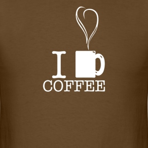 I Heart Coffee - Men's T-Shirt