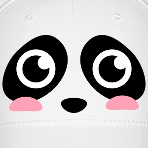 cute panda face with big eyes Caps - Baseball Cap