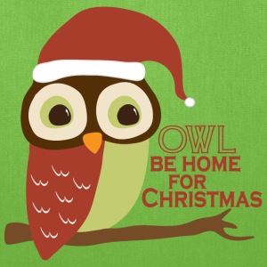 Owl Be Home For Christmas Bags & backpacks - Tote Bag