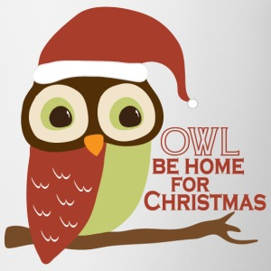 Owl Be Home For Christmas Bottles & Mugs - Coffee/Tea Mug