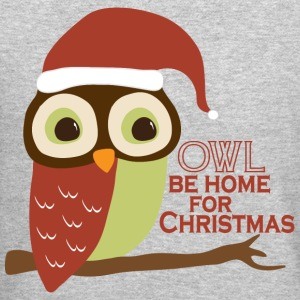 Owl Be Home For Christmas Long Sleeve Shirts - Crewneck Sweatshirt