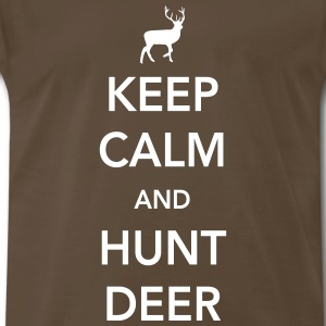 Keep calm and hunt deer T-Shirts - Men's Premium T-Shirt