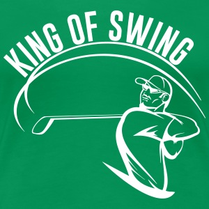 Golf. King of Swing Women's T-Shirts - Women's Premium T-Shirt