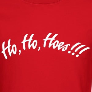 Ho Ho Hoes Stupid Christmas Sweater Long Sleeve Shirts - Crewneck Sweatshirt