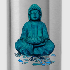 buddha blue Bottles & Mugs - Water Bottle