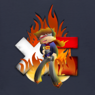 Design ~ Kid's Navy Fire Dan Hooded Sweatshirt