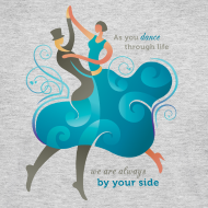 Design ~ Womens Long Sleeve Jersey T-Shirt - Two Dancers