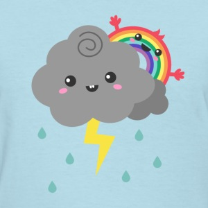 cute rainbow behind a dark cloud Women's T-Shirts - Women's T-Shirt