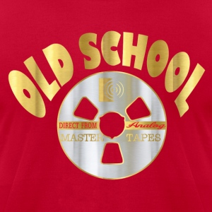 old school music T-Shirts - Men's T-Shirt by American Apparel