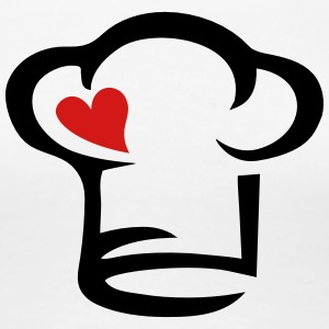 Cook Chef's hat heart, kitchen, chef, restaurant,  Women's T-Shirts - Women's Premium T-Shirt