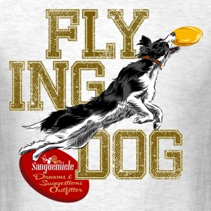 border collie disc dog T-Shirts - Men's T-Shirt