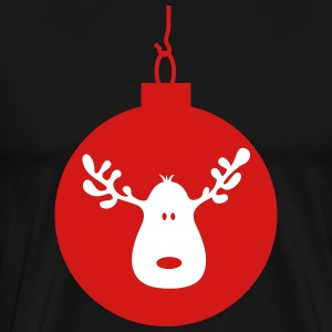 christmas ball moose reindeer caribou bauble T-Shirts - Men's Premium T-Shirt