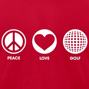 Peace Love Golf T-Shirts - Men's T-Shirt by American Apparel