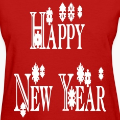 happy_new_year3_snowflakes Women's T-Shirts