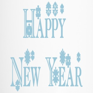 happy_new_year3_snowflakes Bottles & Mugs - Travel Mug