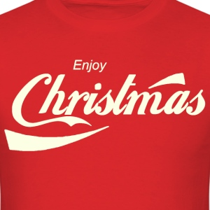 Enjoy Christmas Parody Logo Shirt - Men's T-Shirt