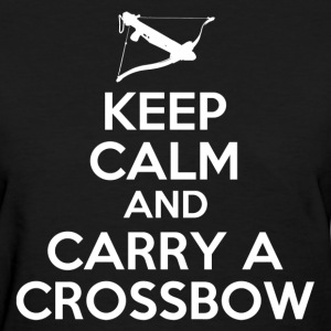 keep_calm_and_carry_a_crossbow_t_shirt Women's T-Shirts - Women's T-Shirt