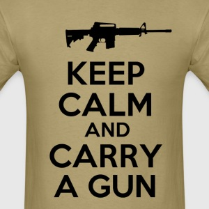 keep_calm_and_carry_a_gun T-Shirts - Men's T-Shirt