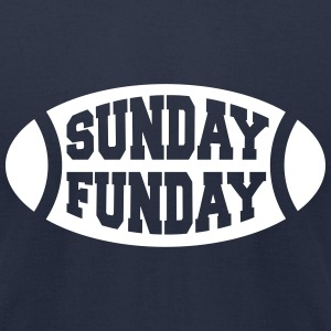 Sunday Funday Football T-Shirts - Men's T-Shirt by American Apparel