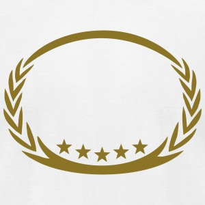 5 stars laurel wreath, winner, sports, champion,  T-Shirts - Men's T-Shirt by American Apparel
