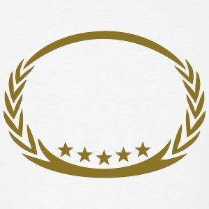 5 stars laurel wreath, winner, sports, champion,  T-Shirts - Men's T-Shirt