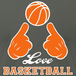 Love Basketball T-Shirts - Men's T-Shirt by American Apparel