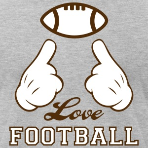 Love Football T-Shirts - Men's T-Shirt by American Apparel