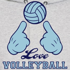 Love Volleyball Hoodies - Men's Hoodie