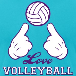 Love Volleyball T-Shirts - Men's T-Shirt by American Apparel