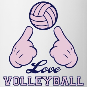 Love Volleyball Bottles & Mugs - Coffee/Tea Mug