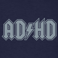 Design ~ ADHD ACDC Logo - Men's T-shirt