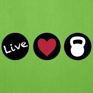 live love lift circles for crossfit  Bags & backpacks - Tote Bag