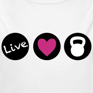 live love lift circles for crossfit  Baby & Toddler Shirts - Long Sleeve Baby Bodysuit