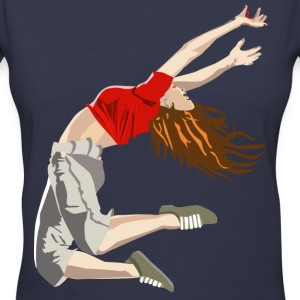 Dance/Gymnastics - Women's V-Neck T-Shirt