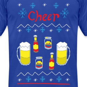 Ugly Sweater - Beer - Men's T-Shirt by American Apparel