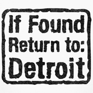 If Found Return To Detroit Kids' Shirts - Kids' Long Sleeve T-Shirt