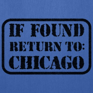 If Found Return To Chicago Bags & backpacks - Tote Bag