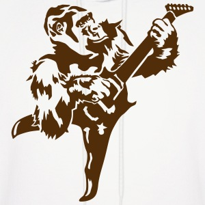 Gorilla with electric guitar Hoodies - Men's Hoodie