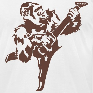 Gorilla with electric guitar T-Shirts - Men's T-Shirt by American Apparel
