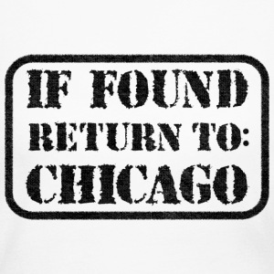 If Found Return To Chicago Long Sleeve Shirts - Women's Long Sleeve Jersey T-Shirt