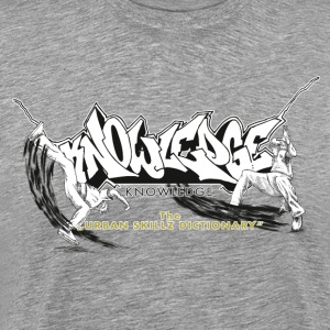 KNOWLEDGE - the urban skillz dictionary - promo sh T-Shirts - Men's Premium T-Shirt
