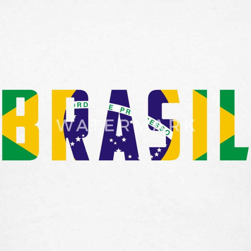 Brazil Name in Flag T-Shirts - Men's T-Shirt