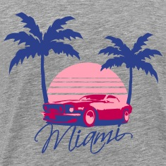 Mus Miami Beach Palms Logo Design T-Shirts