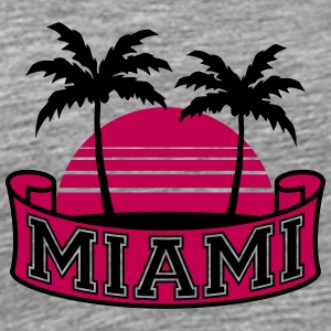 Miami Florida Palm Banner Logo T-Shirts - Men's Premium T-Shirt