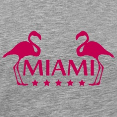 Miami Flamingo Stars Logo T-Shirts