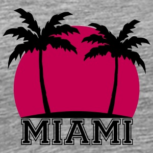 Miami Beach Palms Design T-Shirts - Men's Premium T-Shirt